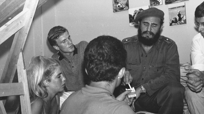 Fidel Castro et Una Liutkus en 1964
