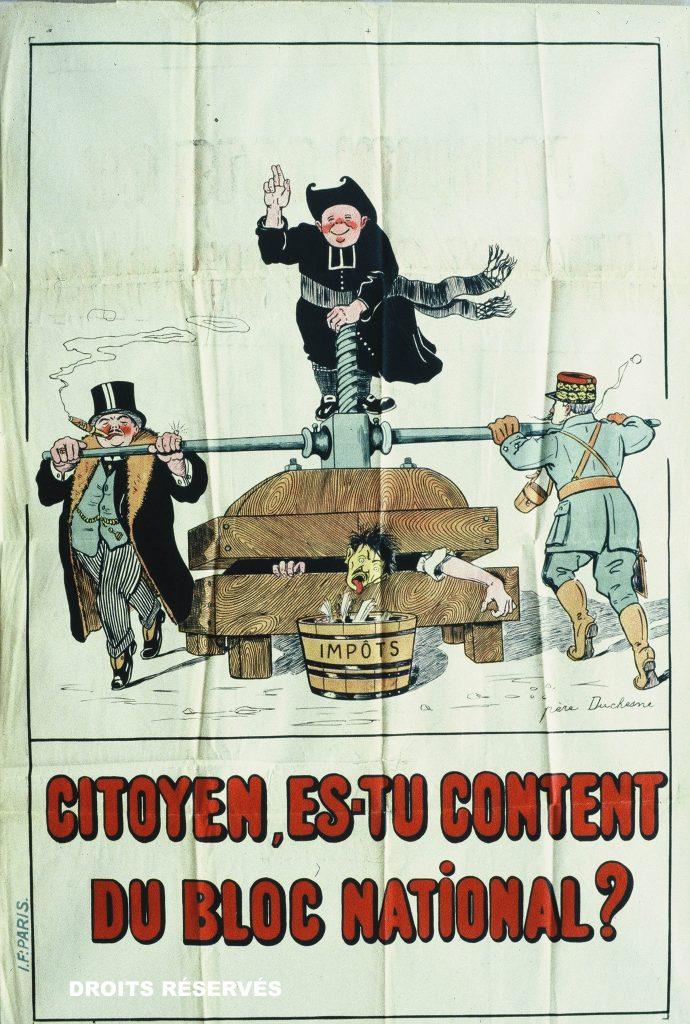 affiches créées pour les législatives de mai 1924