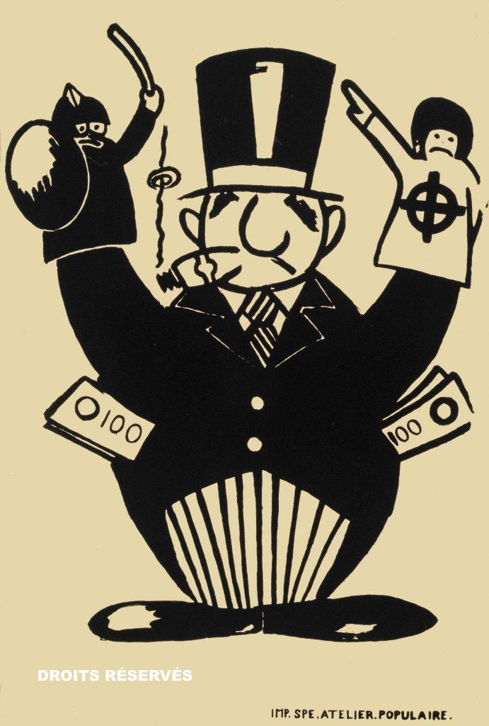 type d'affiches 1973, contre Georges Pompidou.