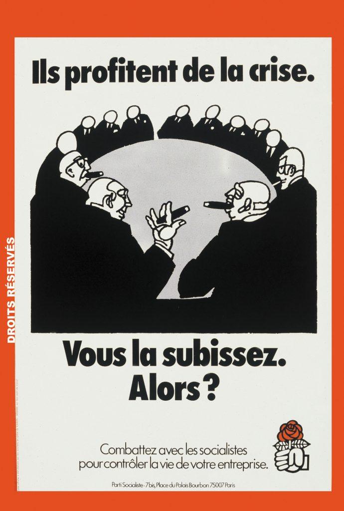 type d'affiches pendant la crise du pétrole, septembre 1975.